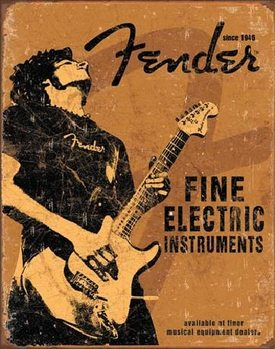 Metallschild FENDER - Rock On
