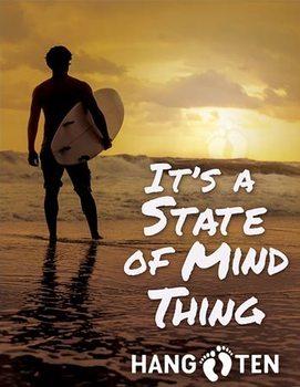 Metallschild Hang Ten - State of Mind