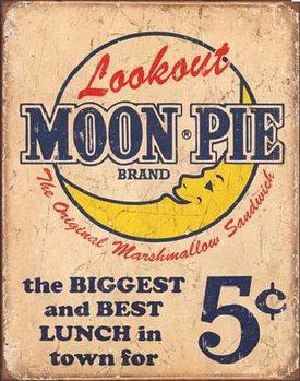 Metallschild MOON PIE - Best lunch