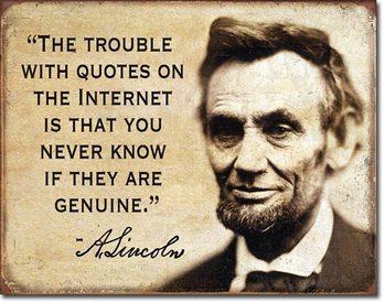 Metallschild Quotes on the Internet