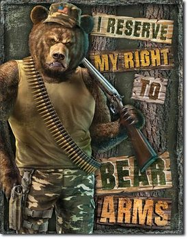 Metallschild Right to Bear Arms