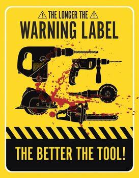 Metallschild Warning Labels