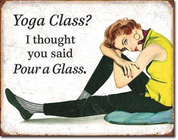 Metallschild Yoga Class