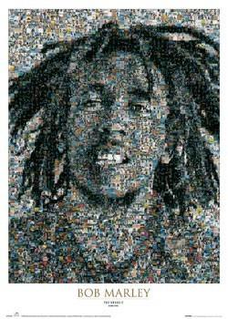 Bob Marley - mosaic II. - плакат (poster)