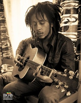 Bob Marley - sitting - плакат (poster)