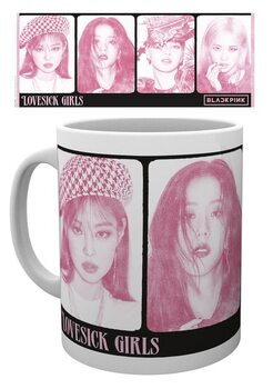 Csésze Black Pink - Love Sick Girls