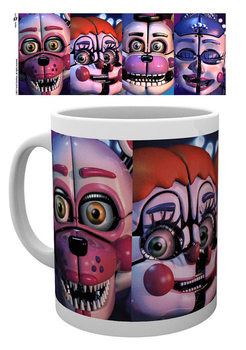 Five Nights At Freddy's - Sister Location Faces bögre