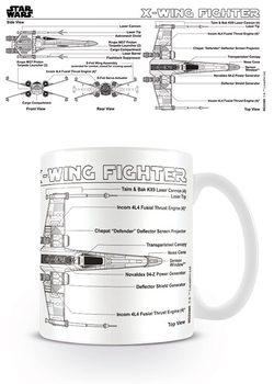 Star Wars - X-Wing Fighter Sketch bögre