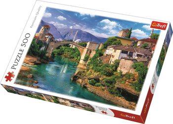 Puzzle Bosna a Hercegovina - Starý most v Mostaru