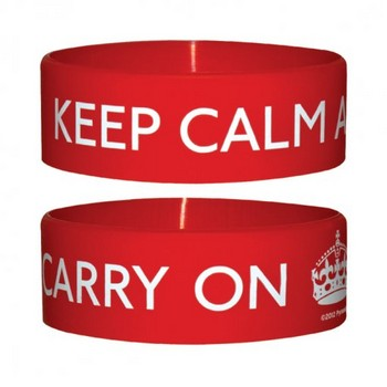 KEEP CALM AND CARRY Braccialetti in silicone