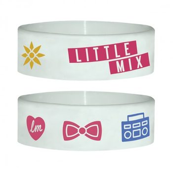 LITTLE MIX - white Braccialetti in silicone
