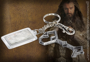 The Hobbit - Thorin's Key + Map Of Middle Earth Breloc