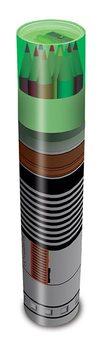 Brevpapper Star Wars - Lightsaber Pencil Tube