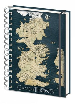 Game of Thrones - Map A5 notebook Brevpapper