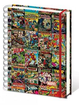 Marvel Retro - Aligned A4 notebook Brevpapper