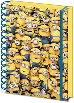 Minions (Despicable Me) - Many Minions A5 notebook Brevpapper