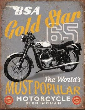 BSA - '65 Gold Star Metalen Wandplaat