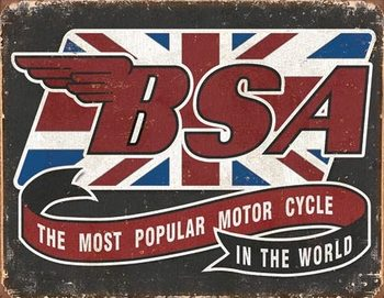 BSA - Most Popular Metalen Wandplaat