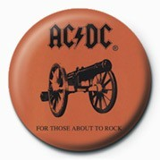 AC/DC - ABOUT TO ROCK button