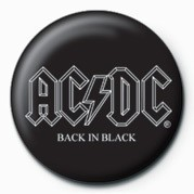 AC/DC - BACK IN BLACK button