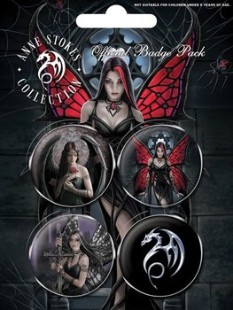 ANNE STOKES - gothic button