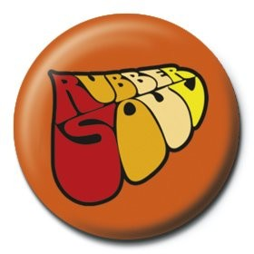 BEATLES - rubber soul logo button