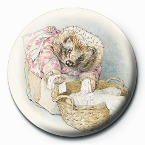 BEATRIX POTTER (MRS TIGGY) button