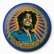 BOB MARLEY - blue button