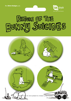 Button BUNNY SUICIDES - Pack 2