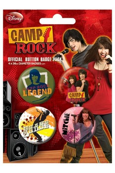 Button CAMP ROCK 1