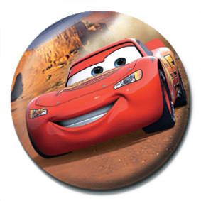 CARS - lightning mcqueen button