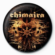 Chimaira (Double Skull) button