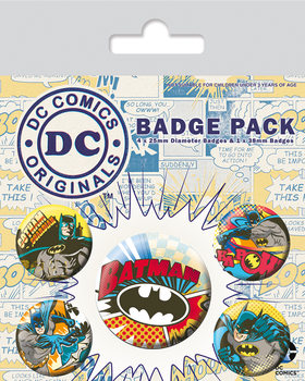 Button  DC Originals - Batman Comic Capers