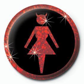 DEVIL WOMAN button