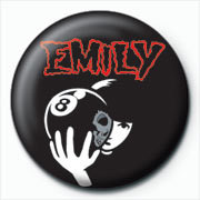 Emily The Strange - 8 ball button