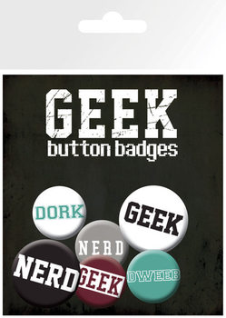 GEEKS & NERDS button