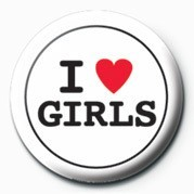 I LOVE GIRLS button