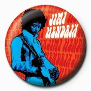 JIMI HENDRIX (BLUE) button