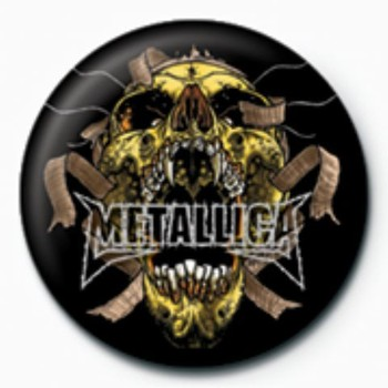 METALLICA - skull GB button
