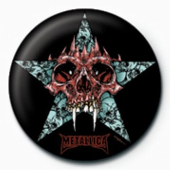 METALLICA - star GB button
