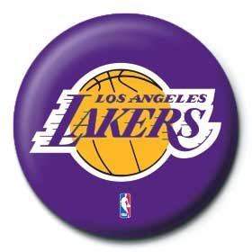 NBA - los angeles lakers logo button