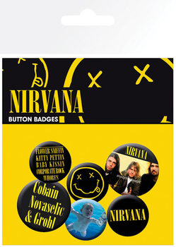 Nirvana - Smiley button