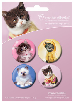 Button  RACHAEL HALE - gatos 2