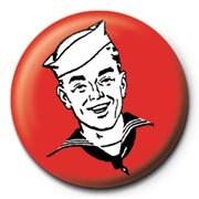 Red sailor button