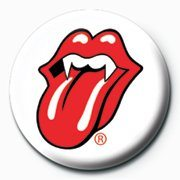 Rolling Stones - Lips fangs button