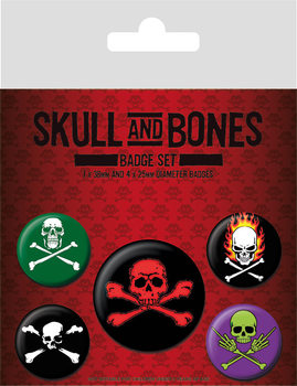 Button Skull and Bones