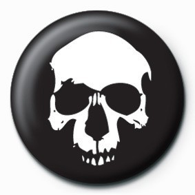 SKULL (BLACK) button