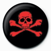 SKULL & CROSSBONES (RED) button
