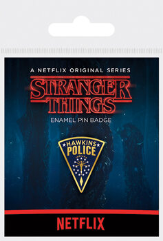 Button Stranger Things - Hawkins Police