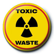 TOXIC WASTE  button